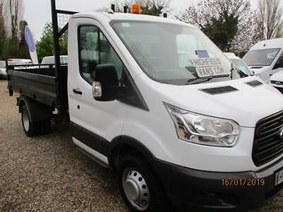 2015 Ford Transit 2.2TDCi,125PS,350 L2H1 SINGLE CAB TIPPER 50K GUARANTEED NO VAT