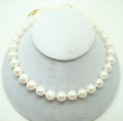 Cultured Pearl Strand Necklace with 14k Gold Clasp (#J2712)