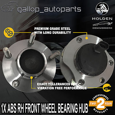 For Holden Right hand Front Wheel Bearing Hub ABS Commodore V6 VT VY VU VX VZ WL