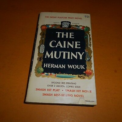 Herman Wouk Hand Signed Paperback Book...''The Caine Mutiny''