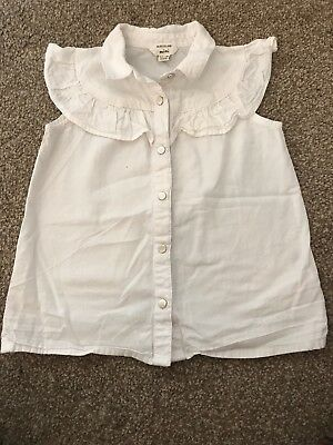 River Island Mini Girls 12-18 Months White Frill Blouse