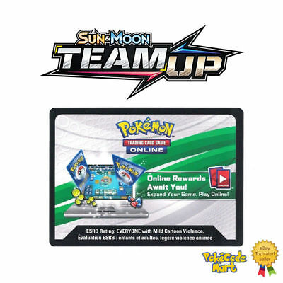 Pokemon Team Up x50 Online Booster Card Codes - Sun & Moon  Fast Del 8hr~ max