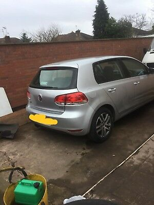 volkswagen golf 2009 1968 cc silver tdi diesel salvage front damage car