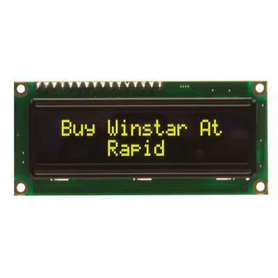 Winstar WEH001602ALPP5N00001 16x2 OLED Display, Yellow 80x36x10mm