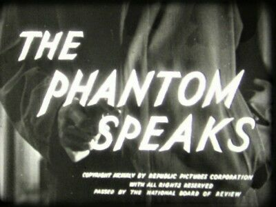 THE PHANTOM SPEAKS (1945) 16mm film Richard Arlen.  Republic Studios  Mystery