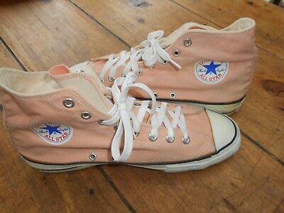 Vintage Converse All Star Chuck Taylor Hi-tops Pink Made in USA size 11US/10UK
