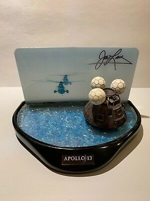James (Jim) LOVELL SIGNED Apollo 13 Universal Studios Splashdown Model