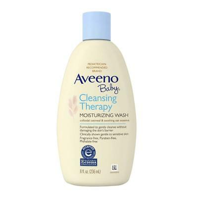Aveeno Baby Cleansing Therapy Moisturizing Wash Scent Free - 8 Oz