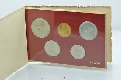 VATICAN PIUS XII  1950 Holy Year in Folder complete w/ 100 Lire Gold - Mint Set