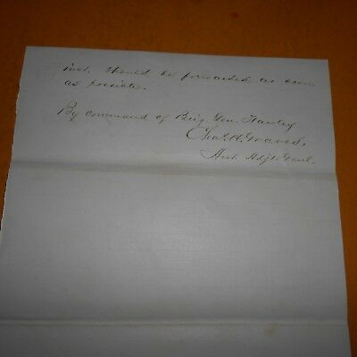 Charles H.Graves Hand Signed 1864 Civil War Orders..Officer/Politician