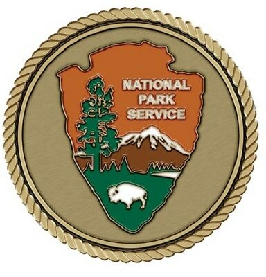 "National Park Service Medallion for Box Cremation Urn/Flag Case - 3"" Diameter"