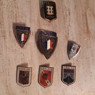 lot 7 insignes police URBAINE VICHY CRS 141 - 212 - 52