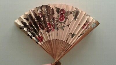 Two Asian Estate wood fans made by People's Republic of China