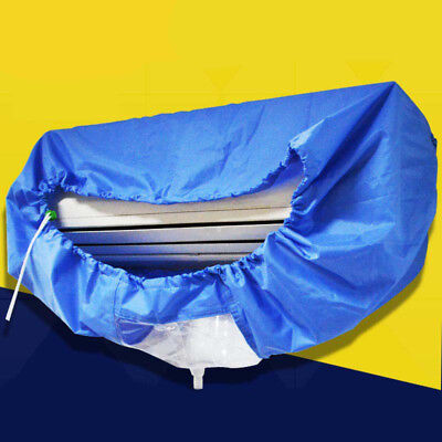 Blue Air Conditioner Cleaning Dust Washing Cover Clean Waterproof Protect 2.4m/9