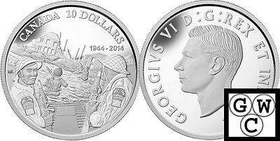 2014 ' 70th Anniversary of D-Day Proof $10 Silver Coin .9999 Fine (NT) (13943)