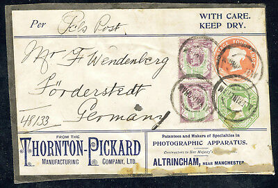 Parcel Label Thornton-Pickard ESC305 4d and 1/- Scare piece!