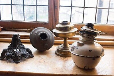 Job Lot of Oil Lamp Spares - Fonts Burner Base