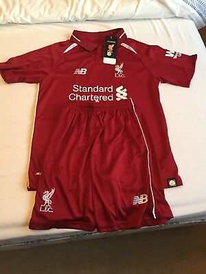 Liverpool  Football club LFC 2018/19 home kit shirt and shorts age 9-10. New!!