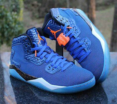 4f8a7f20aed705 Nike Air Jordan Spike Forty 40 Game Royal 807541-405 Total Orange Men s  Size 9.5