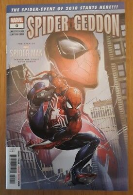 Spider-Geddon #0. Clayton Crain Cover. 1St Appearance Ps4 Spider-Man. New Unread