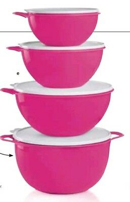 Tupperware 4 Pc. Thatsa Bowl Mixing Bowl Pink Set FREE SHIPPING