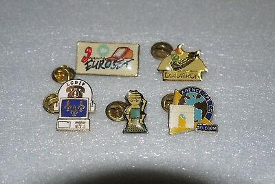 Lot de 5 Pin's Divers, thème de la communication