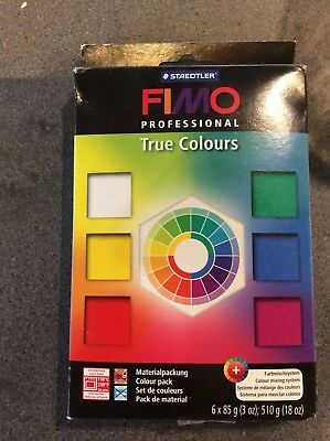 FIMO Professional true colours Modelling Clay 6x85g mixing system