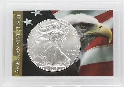 2019 American Eagle Silver Dollar 1 oz - USA Flag Old Glory Coin Patriotic gift