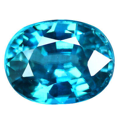 3.30Ct IF Exceptional Oval Cut 9 x 7 mm 100% Natural AAA Blue Zircon