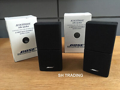 2 X Boxed Black Double Cube Acoustimass 5 10 15  Lifestyle 18 28 Speakers Etc