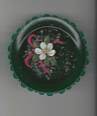 Pairpoint Hand Painted Cup Plate  3 1/4 Inches