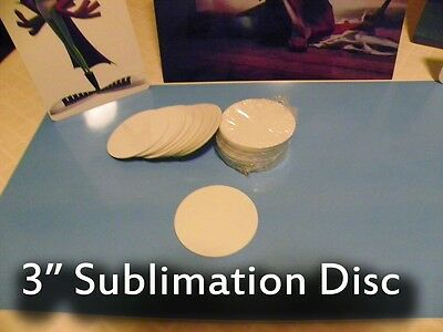 "Gloss White Aluminum Dye Sublimation 3"" Round Blank Discs - Lot of 25PCs"