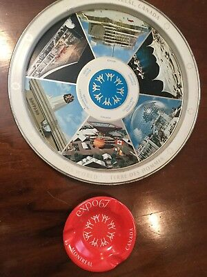 1967 Montreal Expo Drink ServingTray And Ashtry Expo 67 Canada