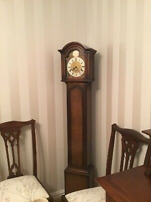 Grandmother clock oak cased westminster chimes 8 day mechanical movement