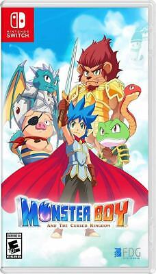 Monster Boy And The Cursed Kingdom Launch Edition Nsw Switch New Free Shipping
