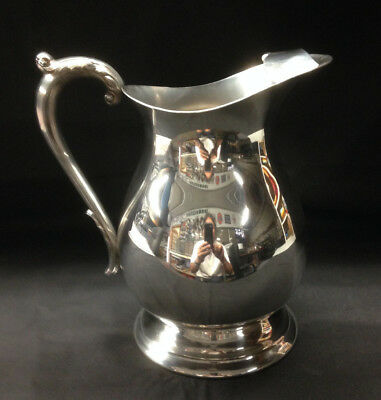 Silver Plated Water Pitcher With Ice Dam