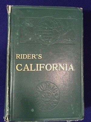 Book: Travel Guide- Rider's California 1927 with Maps- Missions- Yosemite- LA