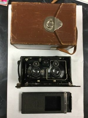 RARE!  ZEISS IKON ICA IDEAL 651 Stereo Camera w/Case & Glass Plate Holder 9cm