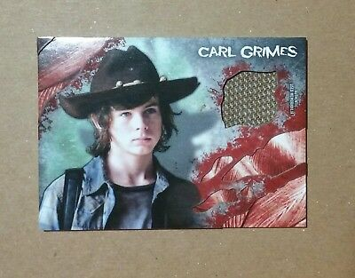 2016 Topps Amc The Walking Dead Carl Grimes Authentic Shirt Relic Card Lot