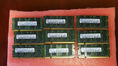 Mixed Lot of (9) 2GB DDR2 PC2  Laptop Memory Mixed Brands & Speed