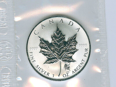 2004 Privy Leo 1 Oz Pure Silver Maple Leaf Coin W/coa Only 5000 Struck!