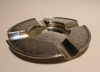 Ashtray English Victorian Antique solid sterling silver ashtray or trinket