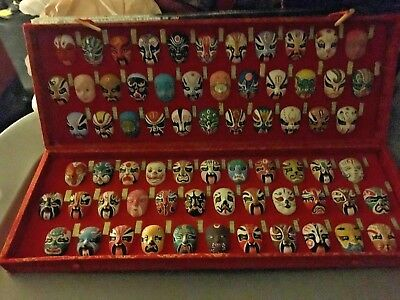 miniature set  Chinese opera  kabuki mask