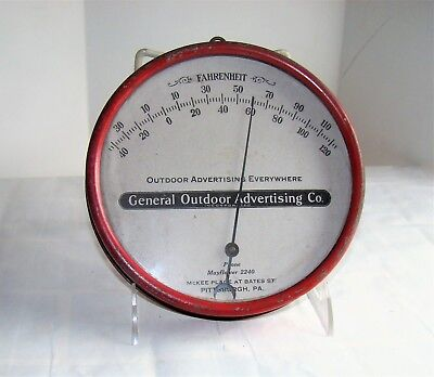 Vintage Outdoor Advertising Co. Metal & Glass Thermometer Salesman Sample?