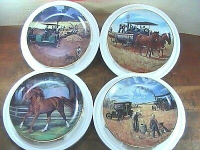 (4)Vintage Collector Plates SECRETARIAT-BOUNTIFUL HARVEST-THE STORM-WATER WAGON