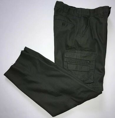 Boy Scouts of America Olive Green Uniform Pants Zip Off Youth Size 12 Length 30