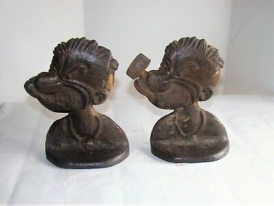 Vintage Popeye The Sailor Cast Iron Bookends