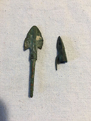 Lot of Two Bronze Age Assyrian Arrow Points