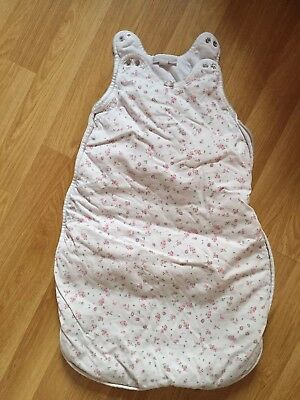 The Little White Company Baby Sleeping Bag 0-6 Months Girl Floral Pink
