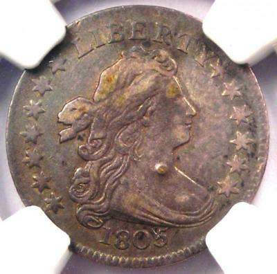 1805 Draped Bust Dime 10C JR-2 - Certified NGC VF Details - Rare Coin!